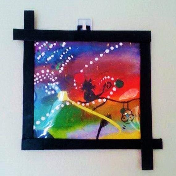 Abstract creative acrylic painting art on canvas by artsyn for Creative painting on canvas