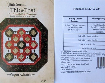 """This & That Quilt Pattern ~ """"Paper Chains"""" #159"""
