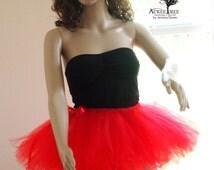 Red tutu - Ribbon Tie tutu,  Color run tutu - Bachelorette tutu - Bridesmaids - Marathon tutu - Running tutu - Custom colors
