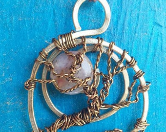 Handmade wire-wrapped Tree of life Pendant