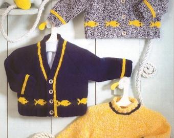 Cardigan &  Sweaters Knitting Pattern DK  16-26 Inch    PDF Download