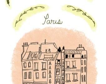 Paris Handmade Card-Digital