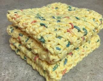 Crochet Dishcloth, Washcloth - Set of 2
