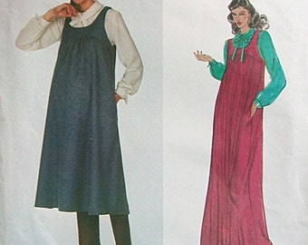 Vintage 1970s Maternity Sewing Pattern Vogue Lady Madonna Maternity Boutique - Vogue 2241 Maternity Jumper with Blouse Size 16 Bust 38 UNCUT