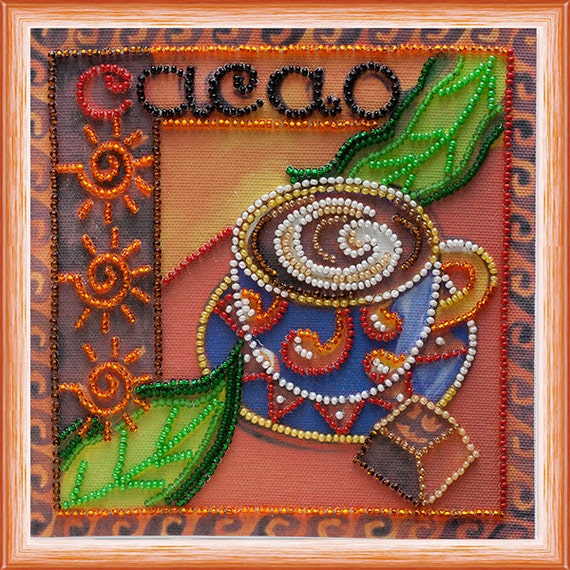 Items similar to bead embroidery kit cacao picture