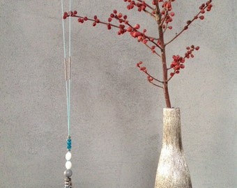 Turquoise necklace and tassel