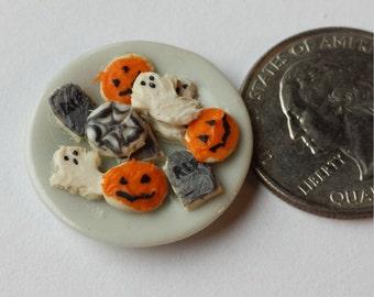 Dollhouse Miniature Halloween Cookies