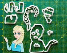 Frozen Cookie Cutter frozen anna dress costume,frozen anna cape,frozen alphabet,frozen anna costume,frozen accessories, 19B