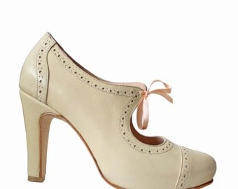 CALA Nude - wedding shoes. 100% leather