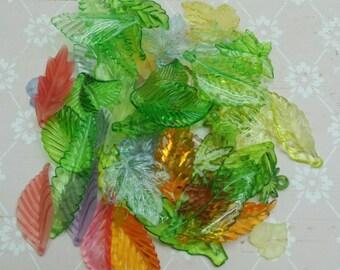 50pcs Mix Lucite Leaves