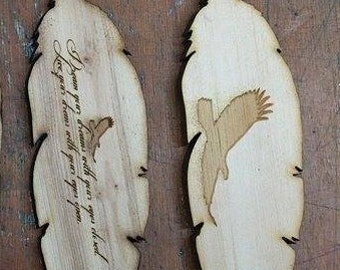 Wooden Native Americans Feathers