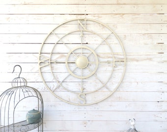 "Iron 42"" Wall Compass, Nautical Wall Art, Home Decor, For The Home, Customize"