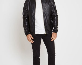 Leather bomber jacket - Cobain
