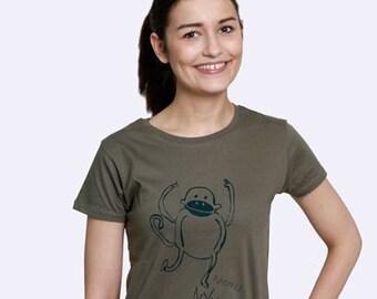 """Kipepeo organic women shirt """"Monkey"""""""