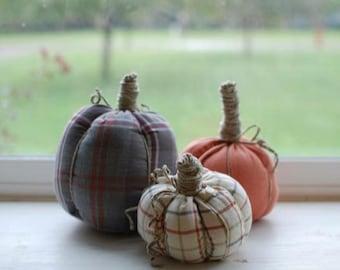 Stuffed Pumpkin Set of 3