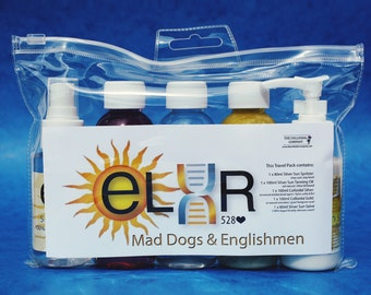 Silver Sun Elxr Silver Sun Travel Pack - Vegan - Everything You Need for Safety in the Sun - Perfect for Summer Holidays!