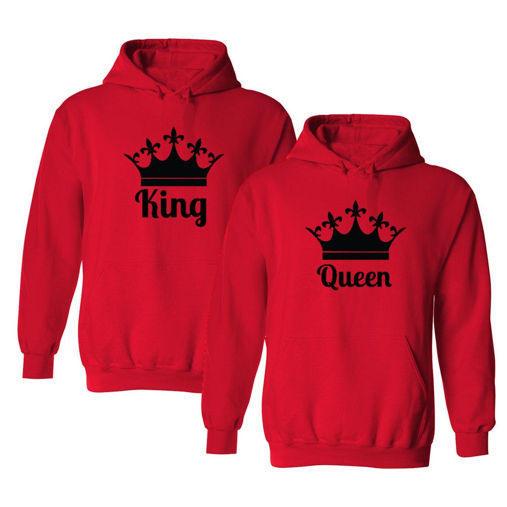 king queen matching couple hooded sweatshirts by. Black Bedroom Furniture Sets. Home Design Ideas