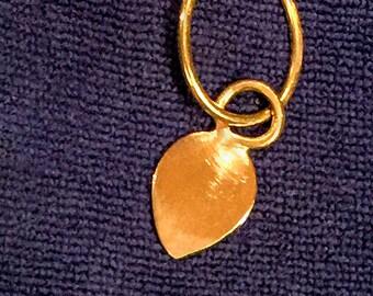 Vintage Brass-Forged Teardrop Pendant