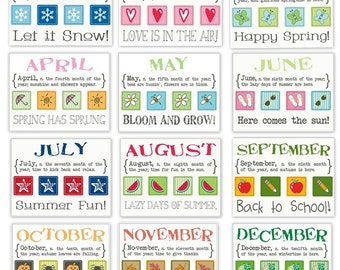 Planner Months of the Year - All 12 Months - Great for most Planners.