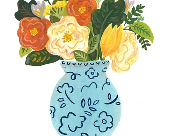 Original Painting of a Vase of Flowers