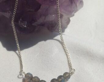 Simple Labradorite Necklace