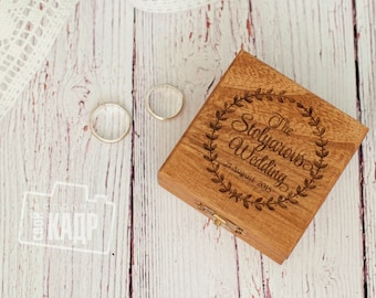 Wedding ring box in rustic style. Come with cute pillow.