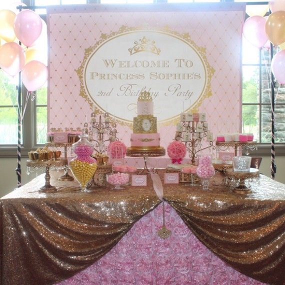 Pink And Gold Princess Baby Shower Birthday By StyleGokcen