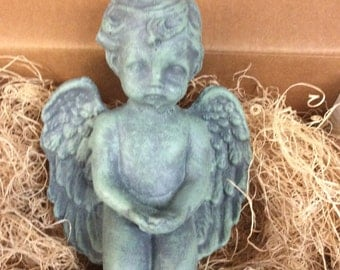 Tiny Angel, Cement Angel Statue, Angels, Small Angels, Indoor Angel, Statues, Gift Box - Great Gift Item