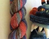 Handspun, Hand Dyed, Fingering Weight, Alaca Wool Yarn - 314 Yards, 2.4 Ounces, 287.12 Meters