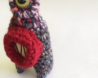 Plush Crochet Monster Keychain or Ornament - Myai