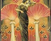 Soma Goddess Mythology Art Nouveau Psychedelic Art 11x14 Print