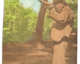 Tinted military photo soldier gun rifle helmet world war