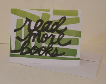 Read More Books Letterpress Print Limited Edition Card