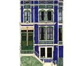 Tall House On 18th, San Francisco - Postcard