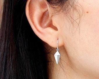 Spike Earrings / Modern Minimalist Silver or Gold Spike Earrings / Trendy Small Spike Earrings / Birthday Modern Girl Gifts