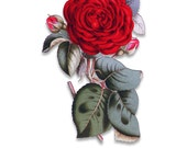 Red Rose Download - Romantic Red Flower - Clip Art - Wall Art - Collage Art - Craft - Print - PNG - Transparent Background - A041