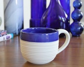 Groove Mug in Cobalt Blue