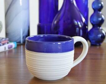 Groove Mug in Cobalt Blue