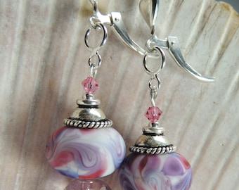 ROSIE Handmade Lampwork Bead Dangle Earrings