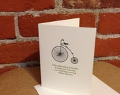 Life is like riding a bicycle. - Albert Einstein - Letterpress Card