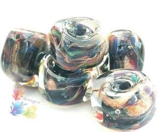 Glass Lampwork Beads Midnight Oriental Glamour Rocks