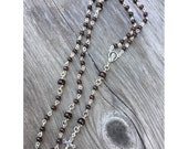 Genuine Garnet Catholic 5 decade rosary