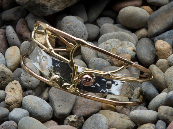 Abstract Metal Cuff Bracelet
