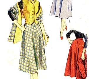 Simplicity 3712 SKIRT & WESKIT circa 1951