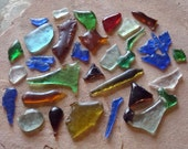 Reserved for Marie - Vintage Slumped Glass Shard Pieces Reclaimed Bottle Glass