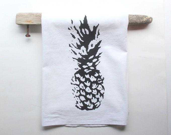 Black and White Pineapple Dish Towel