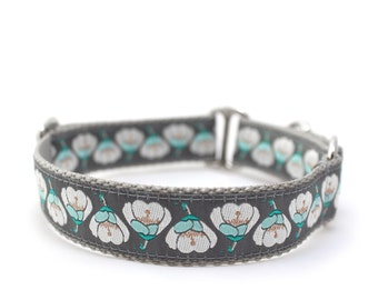 "1"" Dog Collar Camille buckle or martingale collar"