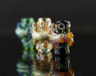 Squid Dread Bead Hand Blown in You Choose the Color, Made to Order