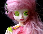 RESERVED 3 of 3 - Zombuki #71 Fairy Floss - Custom Lil Head Pullip Doll with Kokeshi Companion