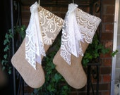 Add a name with lace bow and streamers to your stocking  #100